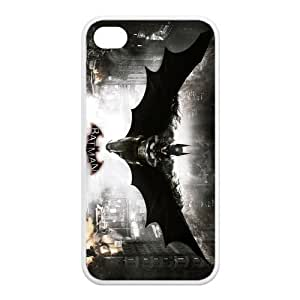 4s Case, iPhone 4 4s Case - Fashion Style New Batman Painted Pattern TPU Soft Cover Case for iPhone 4/4s(Black/white)