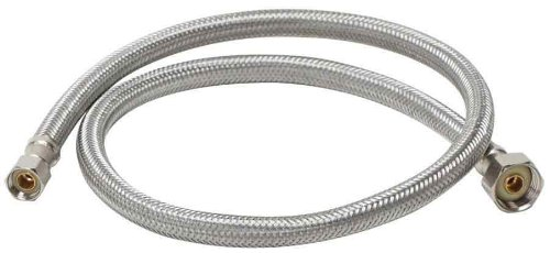 Straight Water Supply (Fluidmaster B1F48 Faucet Connector, Braided Stainless Steel - 3/8