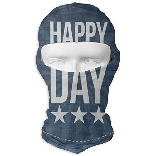 IDO Happy Memorial Day Star Full Face Masks UV Balaclava Hood Ski Mask Motorcycle Neck Warmer Tactical Hood for Cycling Outdoor Sports Snowboard