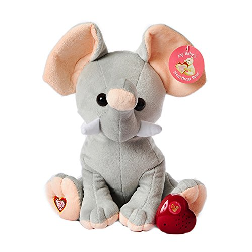 MBHB - Elephant Stuffed Animal w/ 20 sec Voice Recorder - Elephant