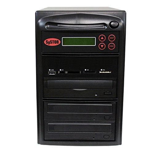 SySTOR Blu-ray BDXL M-Disc All-in-One Multi-Media Flash Memory Back-up USB/SD/CF/MS/MMC to 1-2 CD DVD Duplicator by Systor Systems