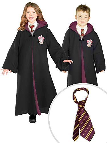 Harry Potter Gryffindor Costume Kit Kids XL Robe With Tie