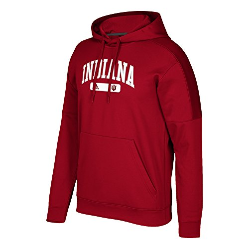 adidas NCAA Indiana Hoosiers Mens Arched Heat Team Issue Fleece Pullover Hoodarched Heat Team Issue Fleece Pullover Hood, Victory Red, (Adidas Fleece Crew Sweatshirt)
