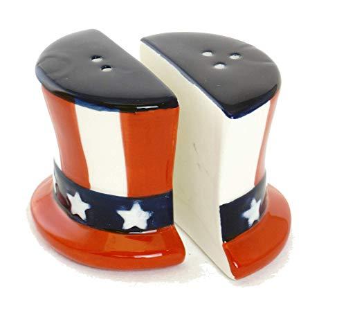 Uncle Sam's Hat Patriotic Salt & Pepper Shakers