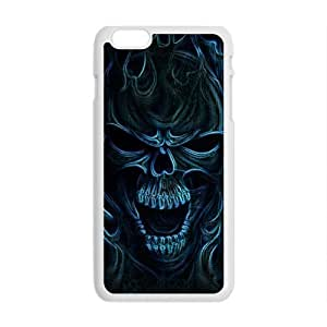 """Andre-case Blue flame skulls cell phone case cover for iPhone tkCRsqIcsyo 5 5s """""""