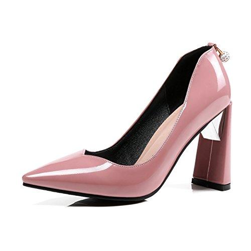 Degli Donne 4 Classic Grandi Modo Scarpe Bacchette Sottile Pu Del Talloni Rosa Partito Di Pompe Delle Di 5 2018 Dimensioni Tallone Alti OwwRX