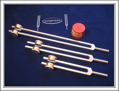 Otto 32, 64 and 128 Hz Tuning fork set for Healing with Activator & Pouch