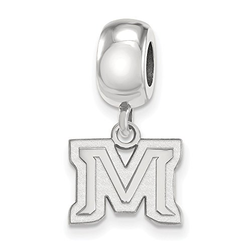 Sterling Silver LogoArt Official Licensed Collegiate Montana State University (MSU) XS Dangle Bead Charm by LogoArt