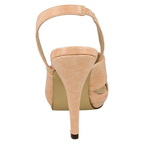 Ladies Anne Michelle Heeled Sling Back Sandals Pink nAHcCRx2Ig