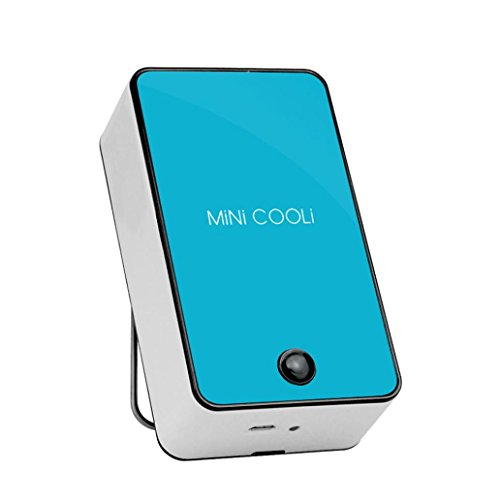 Livoty Portable MINI Air Conditioner Fan Rechargeeable Battery USB Summer (Blue)