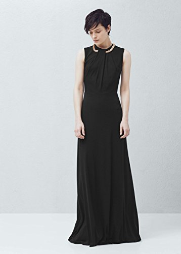 Maxikleid mit Abendkleid Ketten Damen Mango schwarz Wn75Eca
