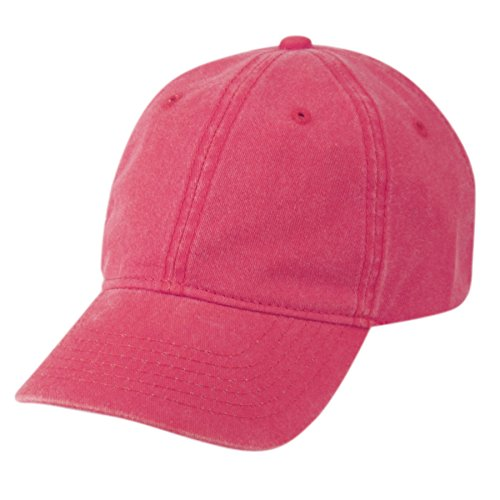 Cotton Twill Pigment-Dyed Sunbuster Ball Cap (HOT Pink) ()