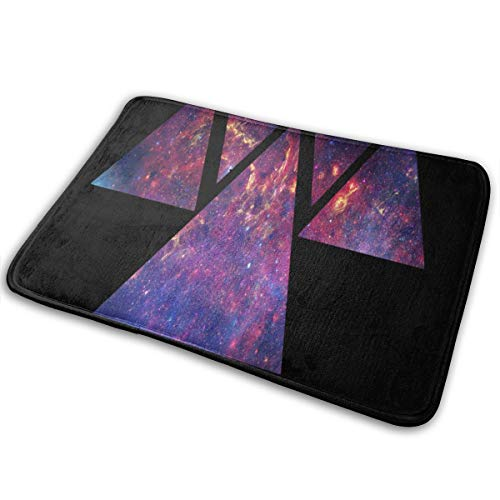 Doormat Galaxy Triangle Purple Fire Customized Non Slip Water Absorption Entrance Mats for Bathroom (Barn Pottery Pit Fire)