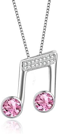 Sterling Necklace Swarovski Crystals Musician product image