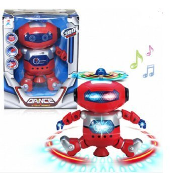 [Electric Space Intelligent Robot Multicolor Shine Cool Dancing Robot Toy (Red) by Completestore] (Dancing Dolls Costumes)