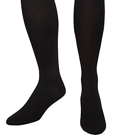 Compression Microfiber Socks For Men - Graduated Firm Support 20-30mmHg - Closed Toe (Medium, Black) Absolute - Over Calf Support