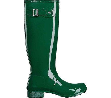 Hunter Womens Original Tour Gloss Packable Rain Boot Hunter Green