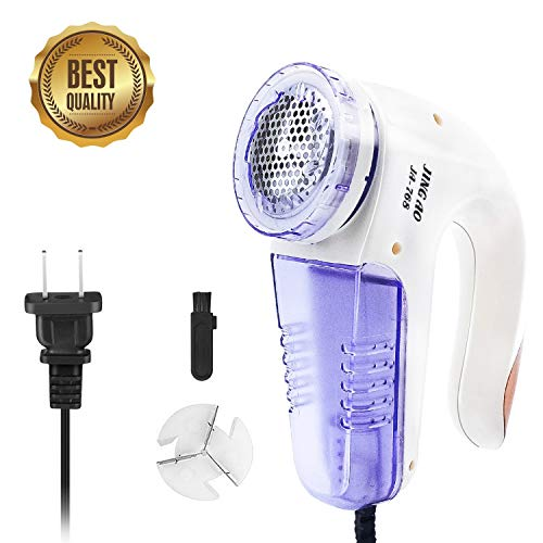 Lint Remover, Portable Electric Fabric Clothes Furniture Shaver, Sweater Pill Defuzzer, Remove Pills Balls Bobbles from Clothing, Carpet, Curtain, Extra Replacement Blade and Brush