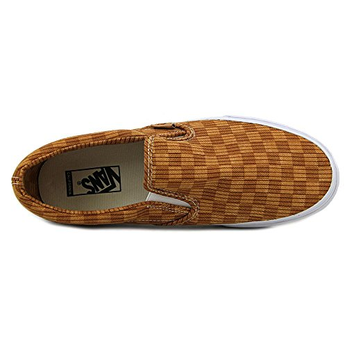 Vans Classic Slip-On (Washed Herringbone) unisex erwachsene, canvas, sneaker slip on washed herringbone gold check