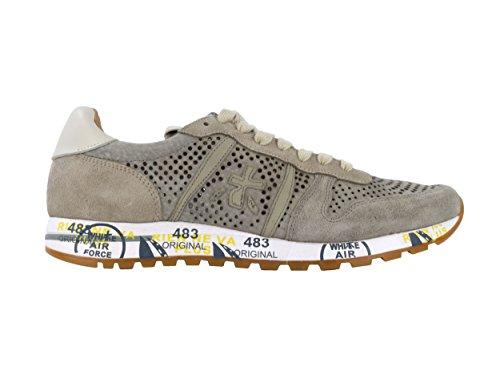 Premiata Uomo Scarpa Sneakers Camoscio Perforato Beige Eric 3140 26290