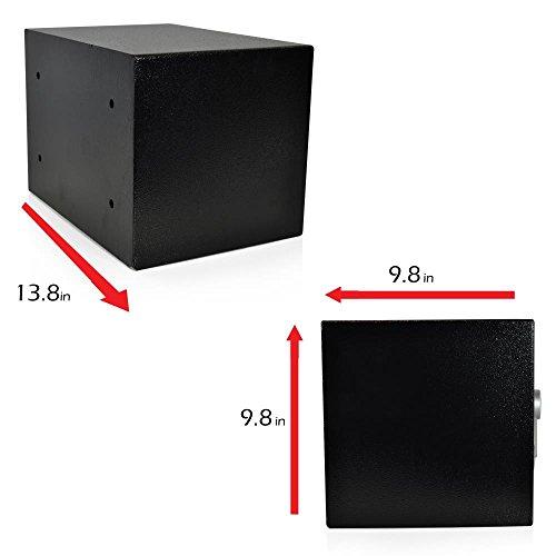 SereneLife Fire Safes And | Box Safe Digital Safe Box | Box Combination Safe Box Steel Drop Safe - Includes Keys