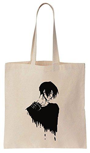 Psycho Pass Shinya Kogami Portrait Sacchetto di cotone tela di canapa