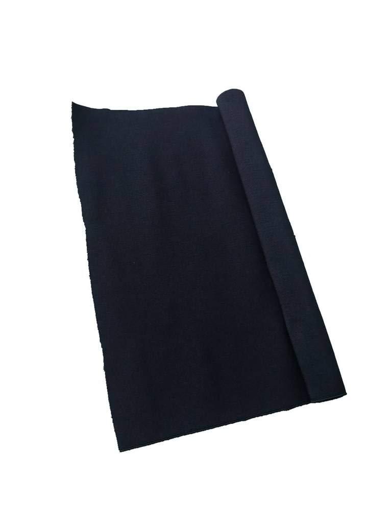 Gourd 6-Inch Black Knit Heavy Stretch High Elasticity Elastic Band 1 Yard