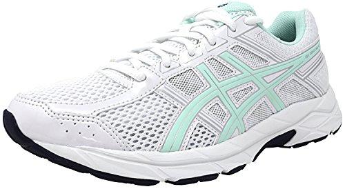 ASICS Women's Gel-Contend 4 Running Shoe, White/Bay/Silver, 10 M US -