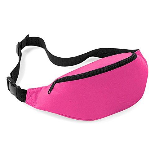 Pocciol Fashion Unisex Handy Waist Belt Zip Bag Travel Hiking Sport Fanny Pack Pouch (A)