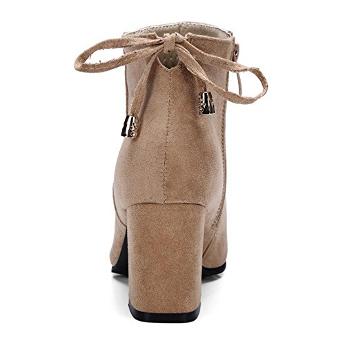 apricot Size Zipper Bootie Women KemeKiss Back Fashion Extra fq447wZT