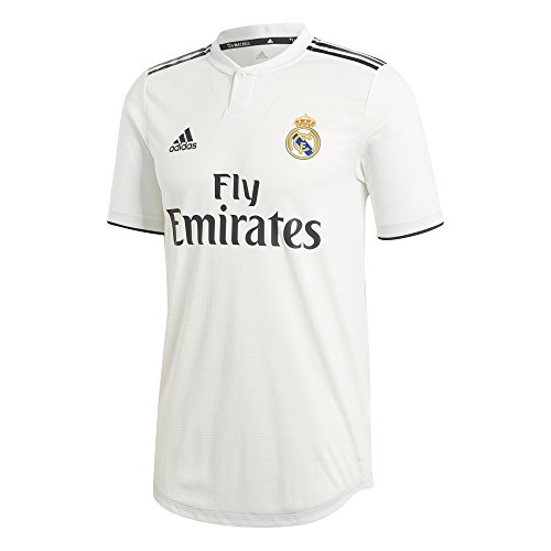 adidas 2018-2019 Real Madrid Authentic Home Football Soccer T-Shirt Jersey (Black Real Madrid Jersey Xxl)