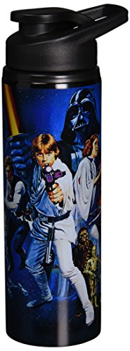 (Silver Buffalo SW4489ST Star Wars Episode IV: A New Hope Stainless Steel Water Bottle, 25-Ounces)