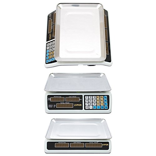 Digital Scale Electronic Price Computing Weight Shop Market UK Adapter up to 40kg