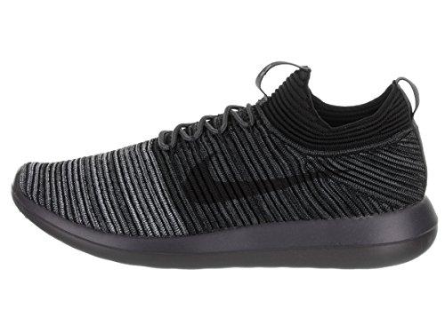 Nike Mens Roshe Two Flyknit V2 Hardloopschoen Zwart / Zwart Antraciet