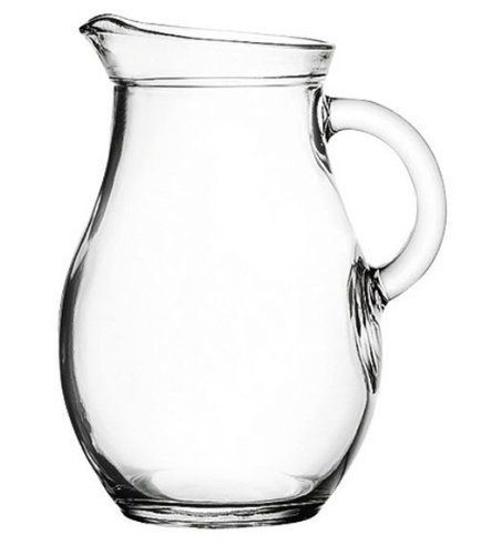 "Mini Glass Pitcher 9 ounces - 5"" High. Child Sized."