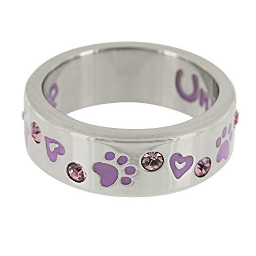Purple Paw & Crystal Unconditional Love Ring