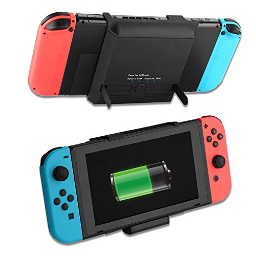 For Nintendo Switch Battery Case 5800mAh Portable Charger Battery Pack Travel Power Bank External Battery Case With kickstand