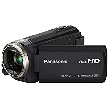 Panasonic HC-V550K Full HD Wi-Fi Enabled 90X Stable Zoom Camcorder with 3-Inch LCD (Black) (Discontinued by Manufacturer)