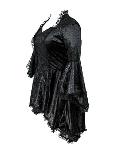 Eternal Love Plus Size Black Gothic Gwendolyn Dress Taffeta Lace (2X) by Eternal Love (Image #2)