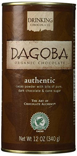 Organic Drinking Chocolate - Dagoba Organic Authentic Drinking Chocolate (Fair Trade Certified), 12-Ounce Canisters (Pack of 3)