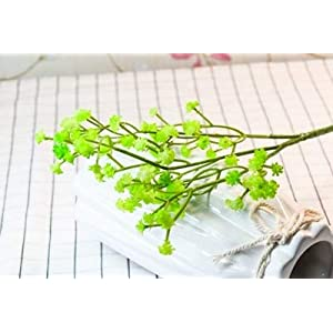 80 Mini Heads 1PC DIY Artificial Baby's Breath Flower Gypsophila Fake Silicone Plant for Wedding Home Party Decorations 8 Colors 27