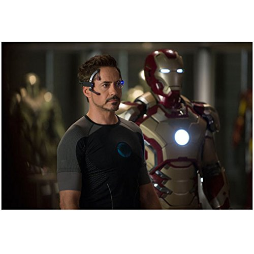 Ultron Suit (Robert Downey, Jr. 8 Inch x 10 Inch photograph Captain America Civil War The Winter Soldier The Avengers Age of Ultron Standing Next to Iron Man Suit kn)
