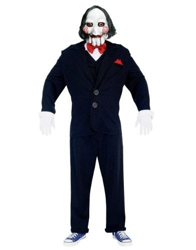 Jigsaw Puppet Costumes (WAS Men's Saw Costume Jigsaw Puppet Costume Chest Medium (38-40