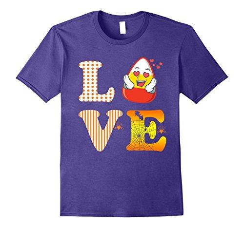 Mens Love Halloween Candy Corn Shirt Bat Spider for Kids Teacher 3XL Purple