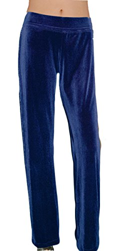 Ooh la la Stretch Velvet Special Occasion Full Length Boot Cut Dress Pant 202331L Navy Straight - Velvet Bootcut Pant