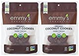 Emmys Organics Coconut Dark Cacao Macaroons, 6 oz (Pack of 2) For Sale