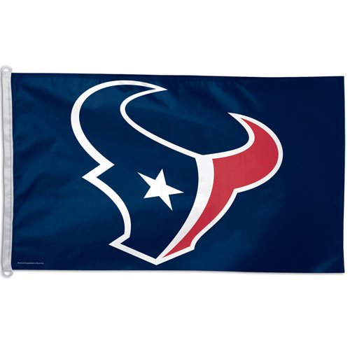 Houston Texans Team Logo Official NFL Flag 3' X 5' With Metal Grommets