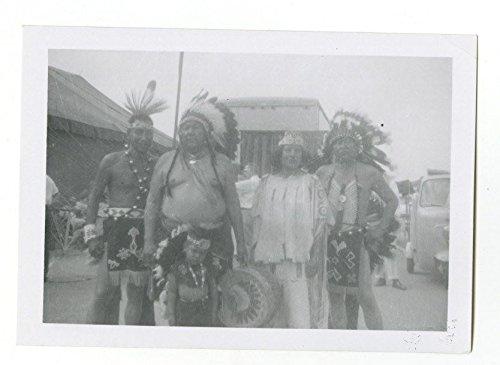 (Cristiani Bros. Circus - Native Americans - Vintage Glossy Snapshot - 1958)