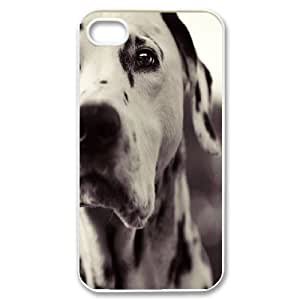 {Dalmatian Series} IPhone 4/4s Case Dalmatian Dog??s Face, Case Bloomingbluerose - White