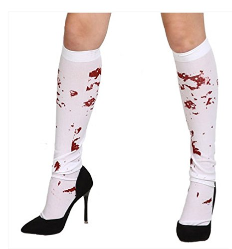 WEIYI Creative White Bloody Stained Stockings Fancy Dress Costume Halloween Decoration